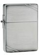 1935 Replica Zippo Lighter w/Slashes - Brushed Chrome - 1935 Zippo