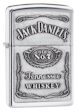 Jack Daniel's Label Zippo Lighter - High Polish Chrome - 250JD427 Zippo